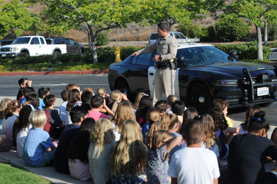 Northlake Elementary receives traffic safety tips from the pros
