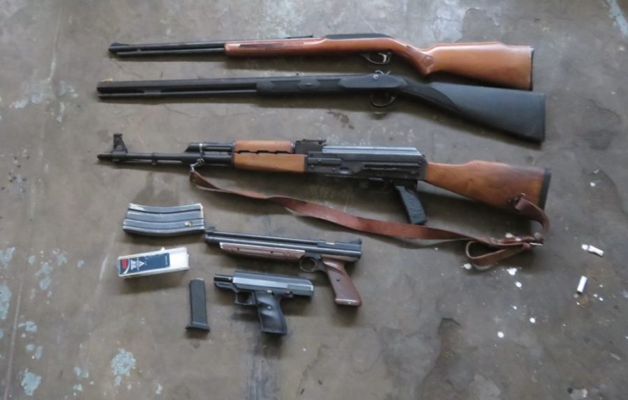 Local detectives track burglary suspect to Bakersfield, seize guns, drugs