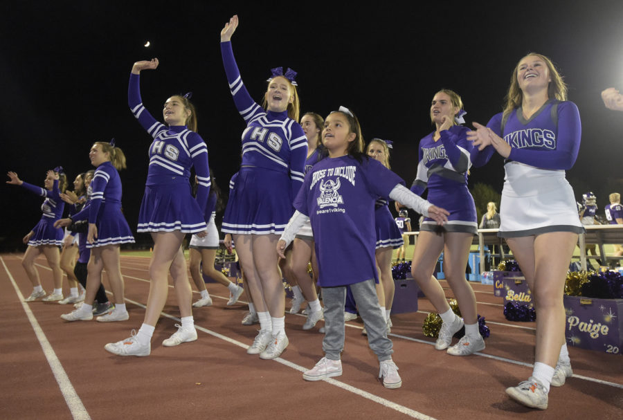 Special Olympics, Time to Cheer athletes perform with Valencia cheerleaders