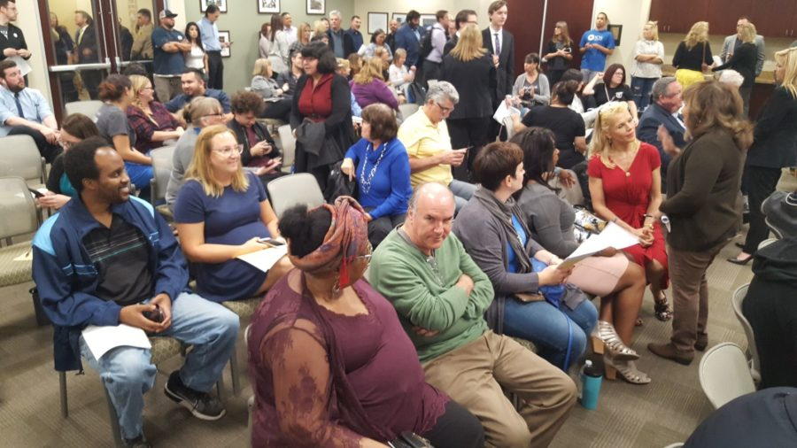 Messina draws crowd, addresses controversy at Hart District meeting