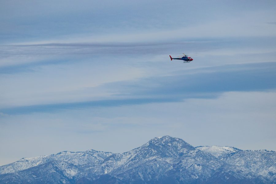 Edison helicopters checking lines in Santa Clarita