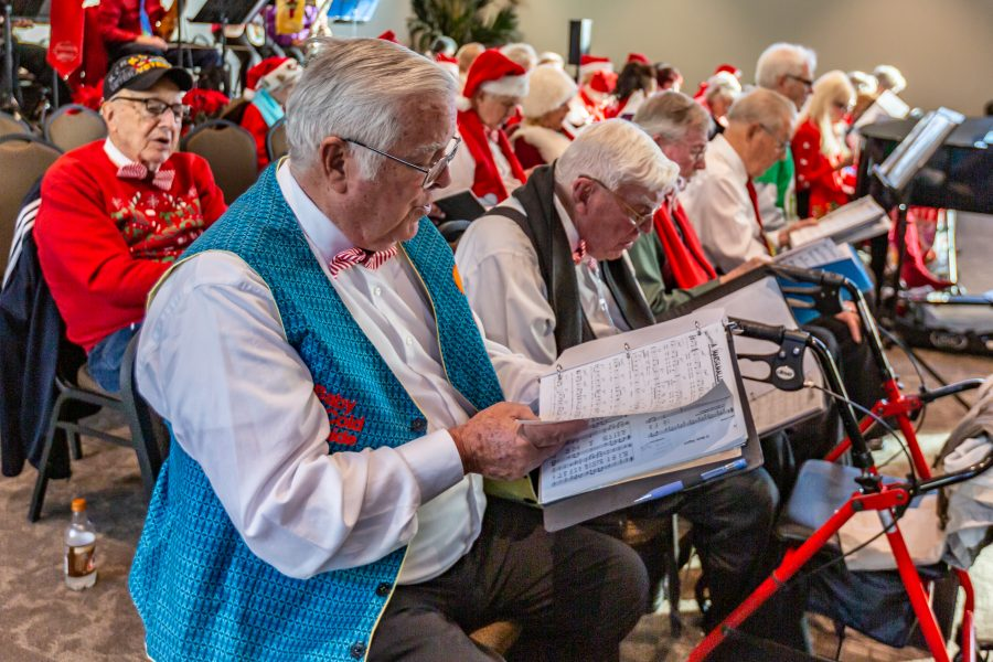 Seniors welcome the holidays with carols