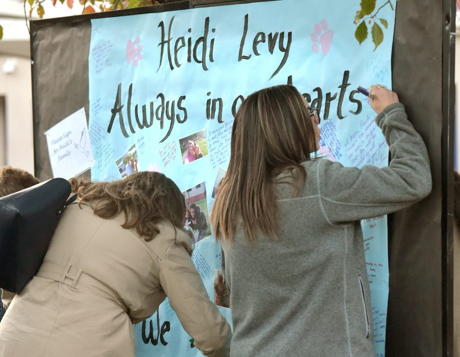 "Grads, students, staffers remember Heidi Levy, and ""Heidi hugs"""