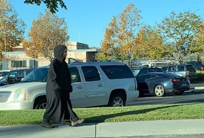 'Creepy' hooded man in trench coat sparks concern, lockdown at Mountainview