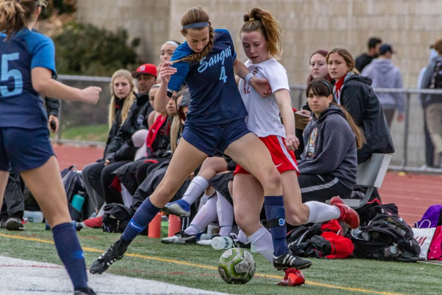 Saugus girls soccer goes punch-for-punch with Hart