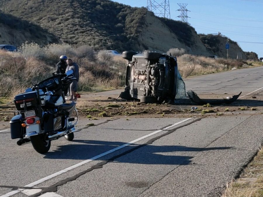 No injuries in morning rollover off Highway 14