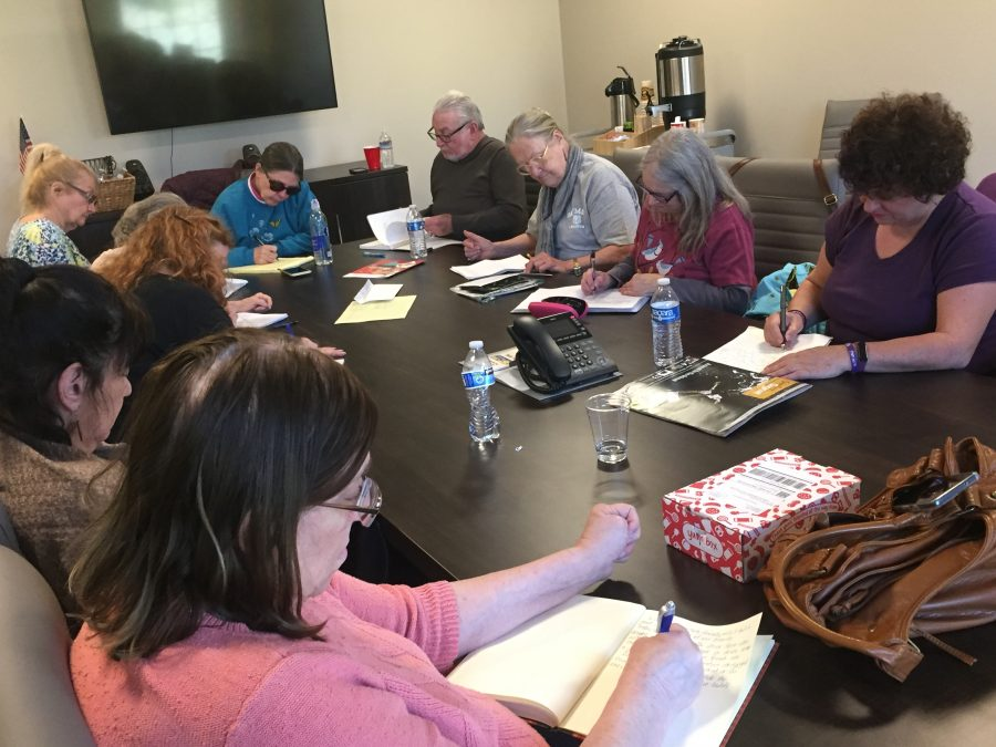 Senior center creative writing class promotes bonding and individuality