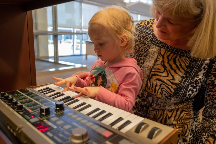 "Newhall Library holds ""musical instrument petting zoo"" for kids and teens"