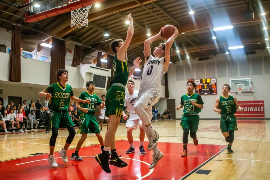 Knights boys hoops hands Rancho Alamitos double-digit loss in quarterfinals