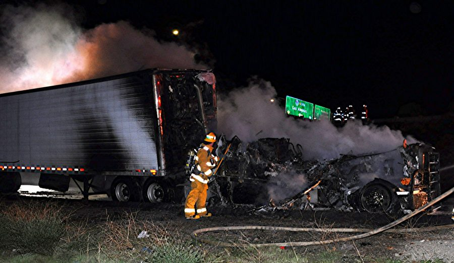 Late-night truck fire impacts morning traffic on northbound I-5