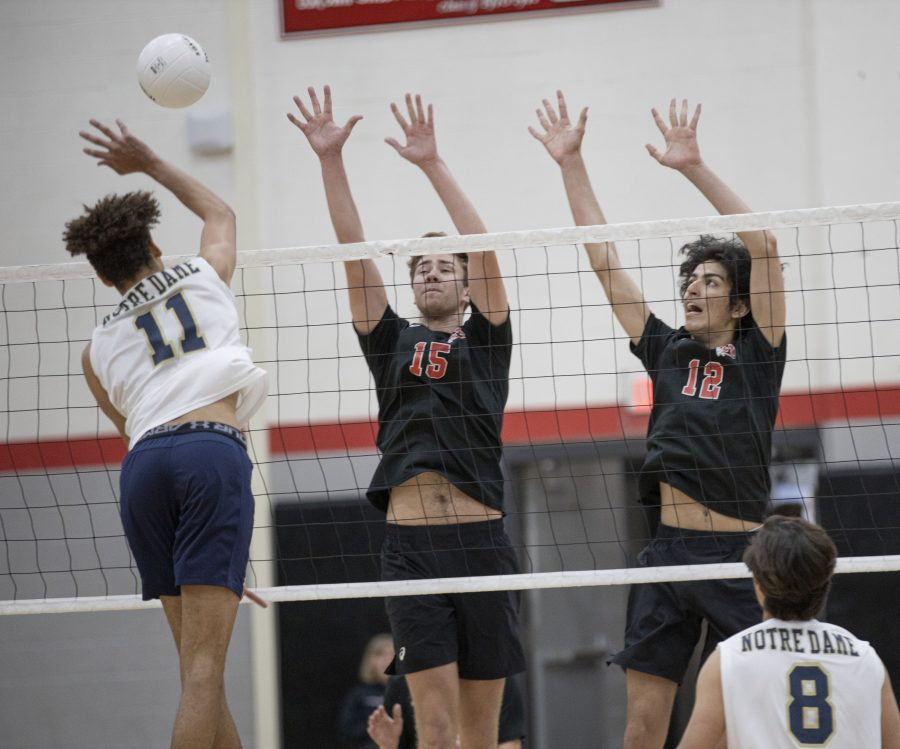 Hart boys volleyball falls in three to Notre Dame