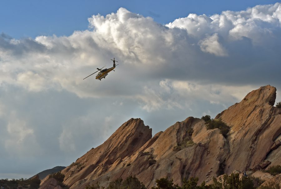 Fire Department responds to cliff rescue at Vasquez Rocks