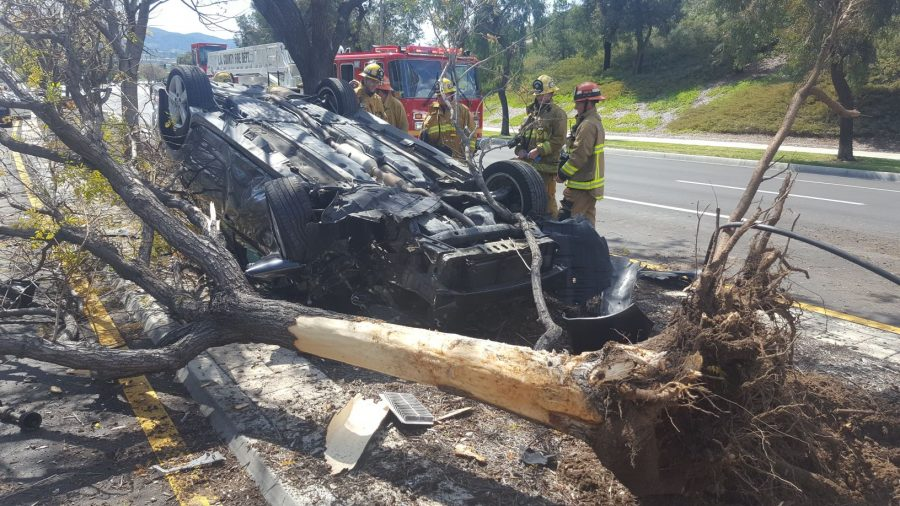 Rollover crash results in nobody trapped