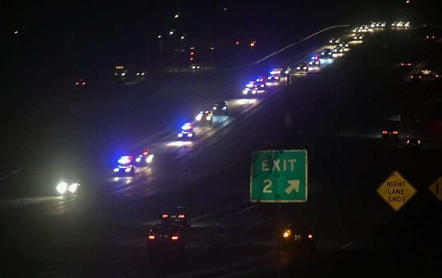Traffic remains heavily impacted after Thursday night freeway shootout