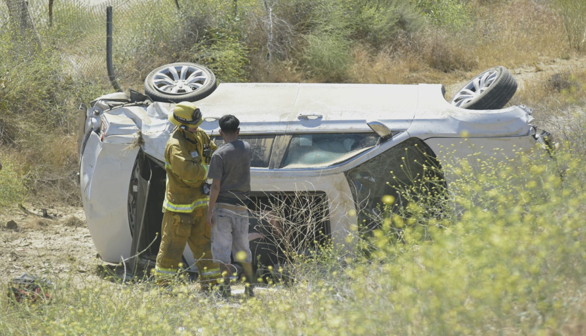 SUV rollover slows Castaic traffic; no injuries reported