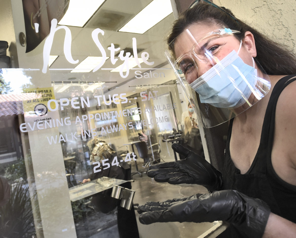 Salons, restaurants open with care