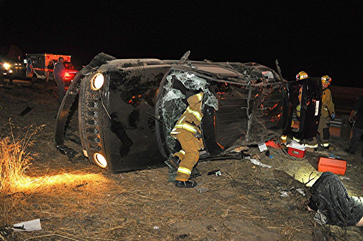 CHP investigating rollover crash that left three injured