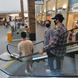 Shoppers in the Westfield Valencia Town Center on Wednesday, June 10, 2020.  Dan Watson/The Signal