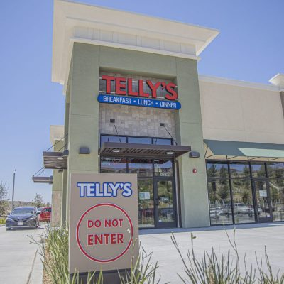 Telly's Charburgers is among the businesses in the Skyline Ranch Plaza shopping center that have reopened their doors. June 22, 2020. Bobby Block / The Signal.