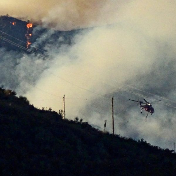 SIGNAL FILE PHOTO: Lake Fire as viewed from Lake Hughes road in Castaic 081220. Dan Watson/the Signal