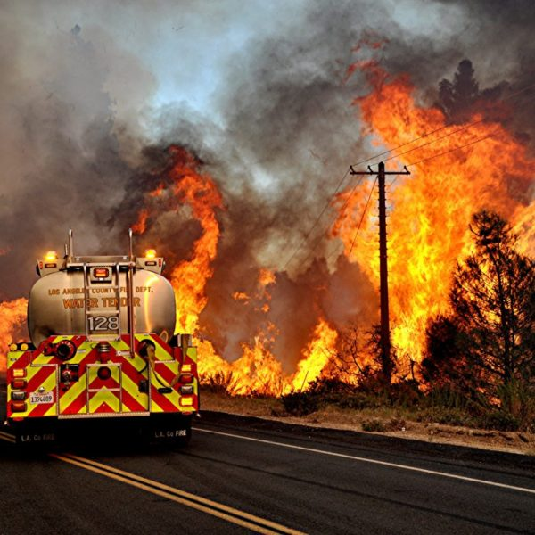 The Lake Fire burns along Pine Canyon Road on Friday, Aug. 14, 2020. Rick McClure/For The Signal