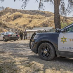 Santa Clarita Valley Sheriff's Station Deputies investigate reports of a residential burglary at a home located off of Baker Canyon Road in Canyon Country Thursday afternoon. September 03, 2020. Bobby Block / The Signal.