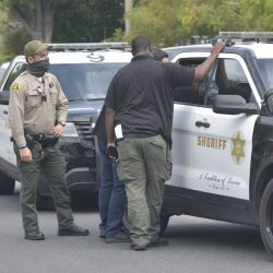 Santa Clarita Valley Sheriff's Station deputies responded to a report of a domestic assault at the 26200 block of Parkview Drive in Valencia Friday morning. Dan Watson / The Signal
