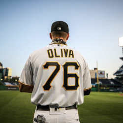 Valencia High School grad Jared Oliva made his major league debut Monday night on the Pittsburgh Pirates. Courtesy
