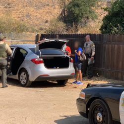 SCV Sheriff's Station deputies arrest two people in Newhall following reports of a stolen vehicle on Saturday, Sept. 26, 2020. Courtesy of SCV Sheriff's Station.