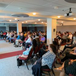Over 200 people were in attendance at the seminar, and over 100 listened to Katariina Rosenblatt's story on Sept. 28, 2019. Caleb Lunetta/The Signal