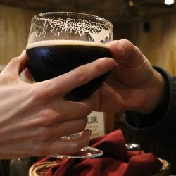 FILE PHOTO A couple shares a beer at Wolf Creek Restaurant and Brewing Co. to celebrate New Year's Eve on Saturday. Nikolas Samuels/The Signal
