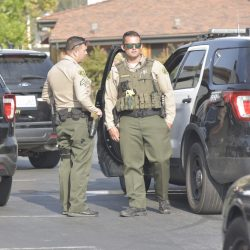 SCV Sheriff's Station deputies respond to a deputy-involved fight near The Old Road and Stevenson Ranch on Saturday, Sept. 26, 2020. Dan Watson/The Signal