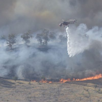 Firefighters respond to the Castaic Fire on Saturday, August 1, 2020. Dan Watson/The Signal