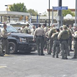 Santa Clarita Valley Sheriff's Station deputies reassigned to assist in Bobcat Fire in Antelope Valley on Sept. 17, 2020 Dan Watson/The Signal